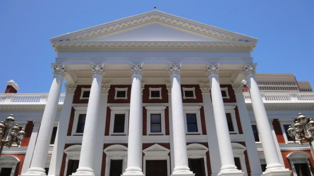 A photo of the South African parliament. Where South African Government Policies are made.