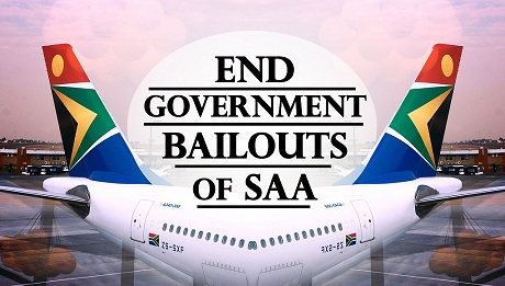 End Government Bailouts of SAA logo