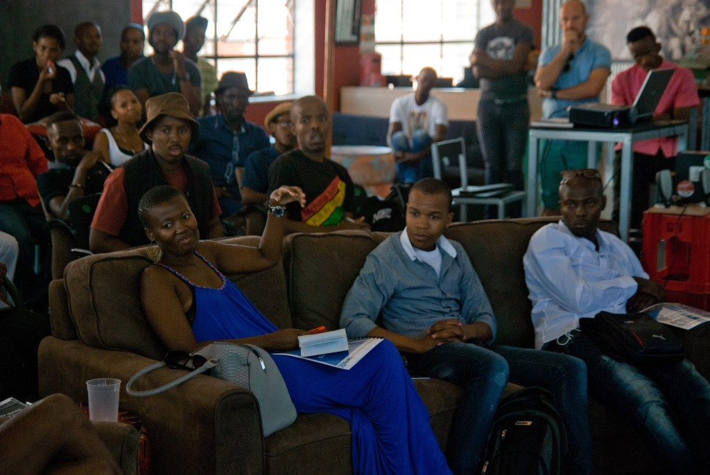 Attendees at Ineng's event at Hubspace Khayelitsha