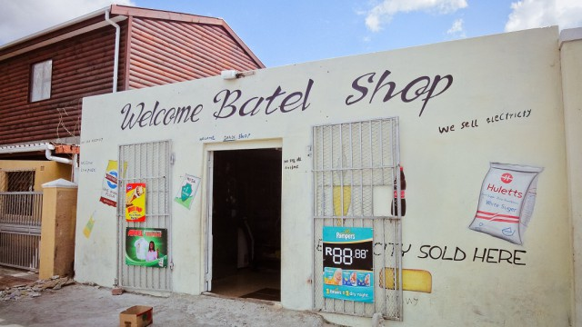 A photo of a small shop in South Africa