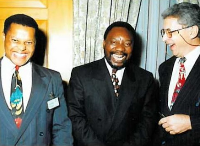 A photo of Temba Nolutshngu Cyril Ramaphosa Leon Louw