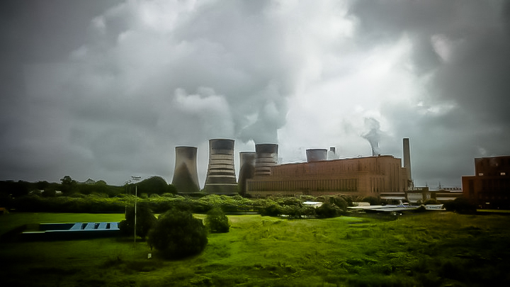 An Eskom powerstation. Eskom has been affected by South African public policy.