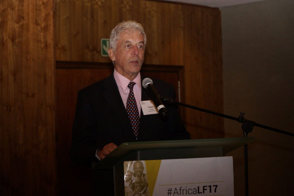 Leon Louw from the Free Market Foundation speaking at the Africa Liberty Forum in Johannesburg