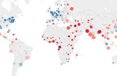 A map showing the quality of life rankings for various cities worldwide
