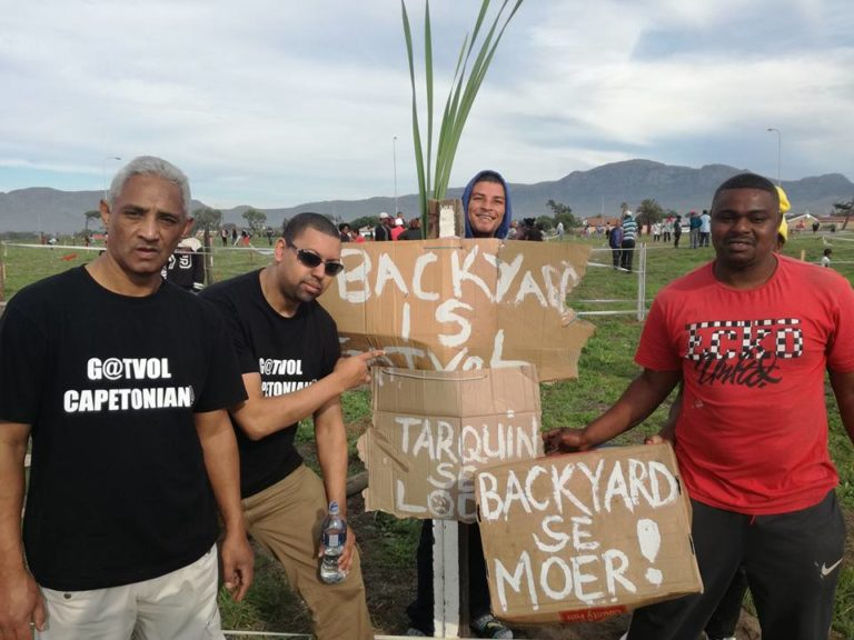 Gatvol Capetonian members at a protest in Parkwood Cape Town