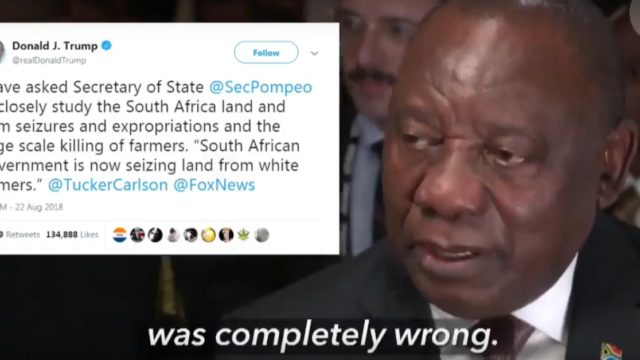 cyril ramaphosa donald trump tweet UN new york