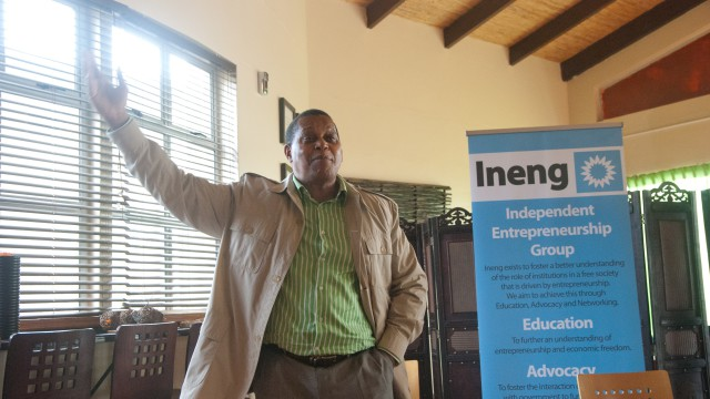 A photo of Temba Nolutshungu - Ineng EPP event