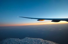 a photo of an aeroplane wing