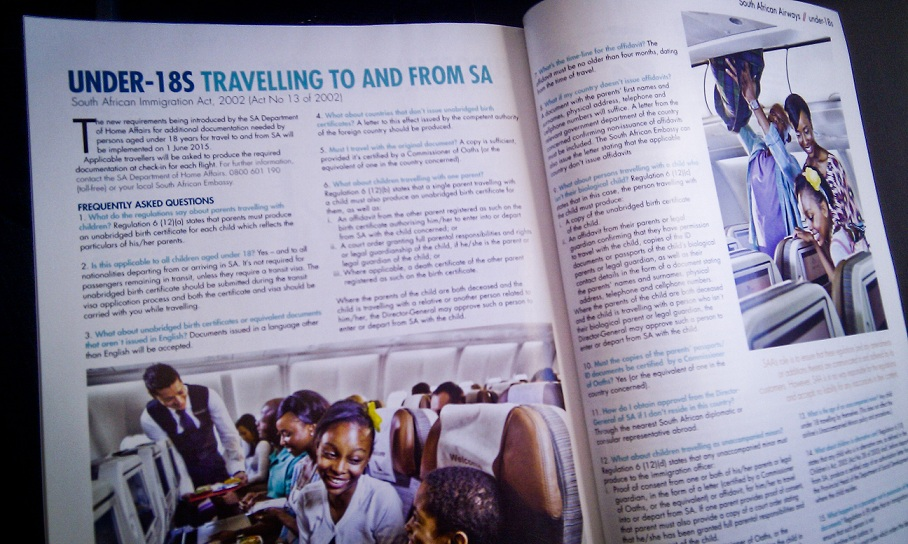 Birth certificate laws in SAA magazine