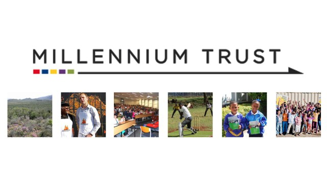 A photo showing the Millenium Trust logo