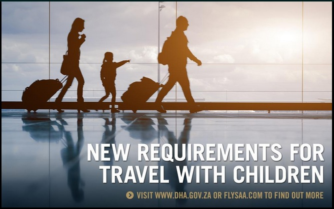 A poster for New Requirements for Traveling with Children