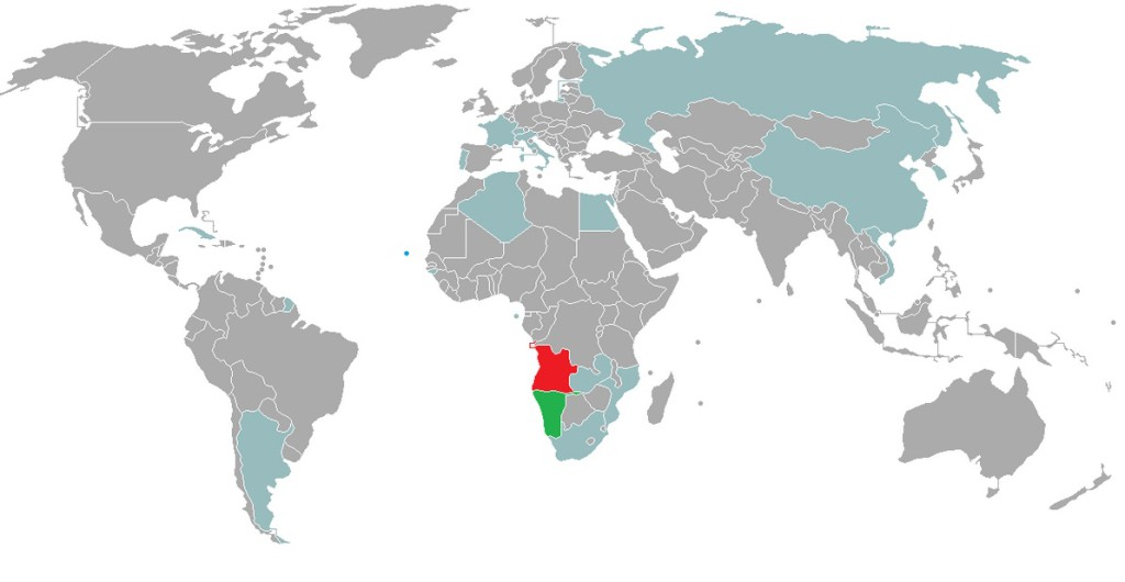 Angola - Visa Policy Map