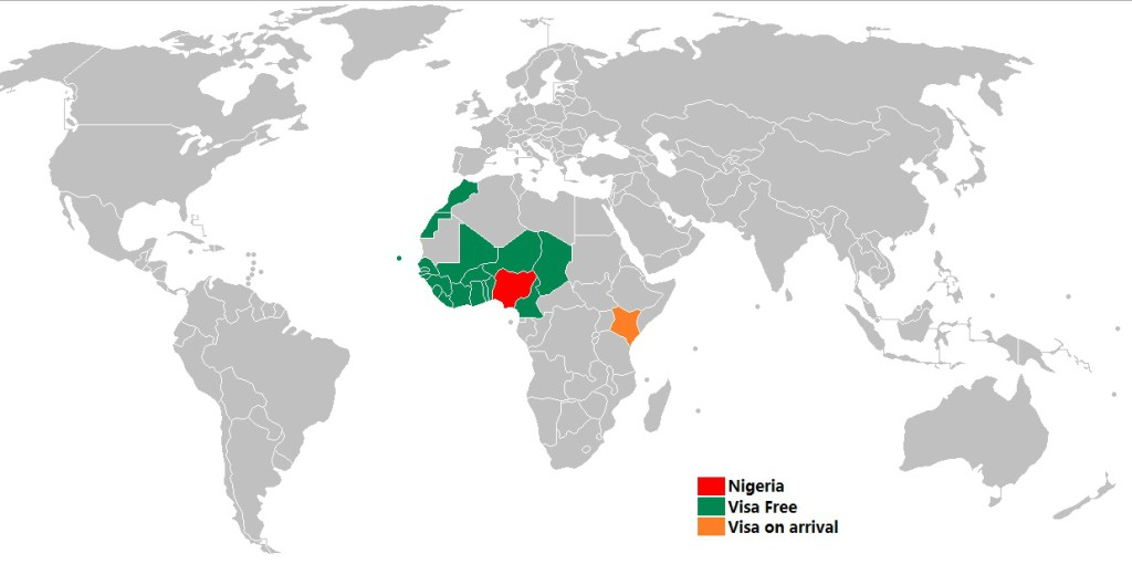 Nigeria - Visa Policy Map
