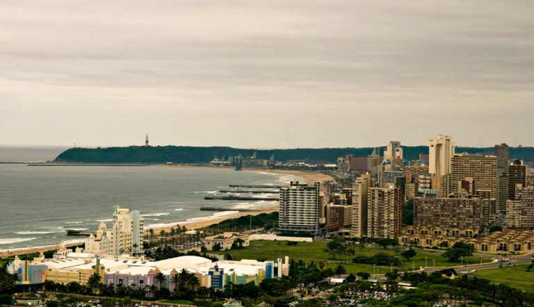 Durban beach. the Future of South Africa
