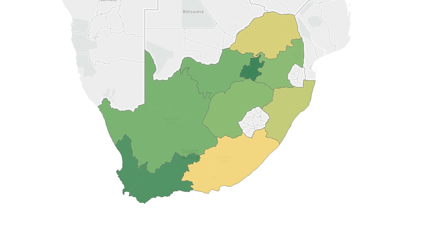 Gdp Per Capita Map 2013 South African Province...