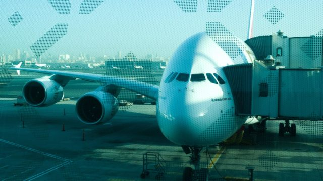 A photo of an A380 aeroplane. Goes with an article about Visa Free Countries for South African travellers.