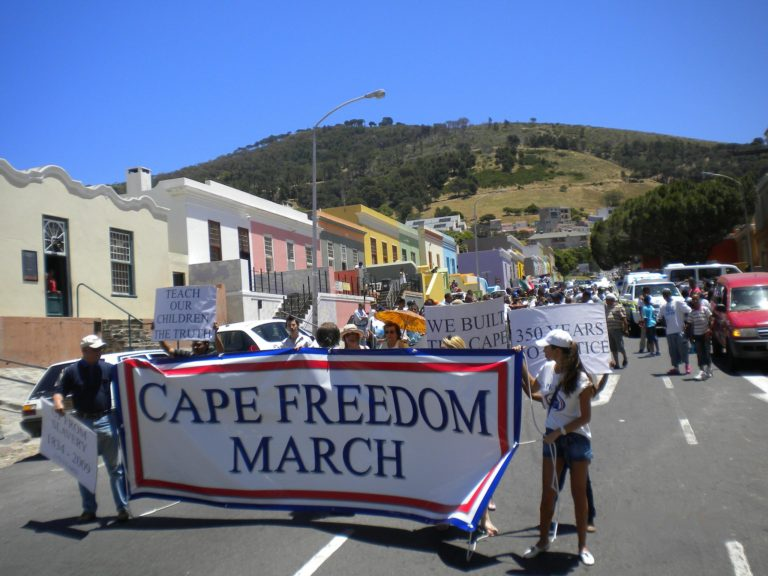 Western Cape Independence March - the Cape Party marches in BoKaap Cape Town