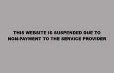 The website of the African National Congress with the notice THIS WEBSITE IS SUSPENDED DUE TO NON-PAYMENT TO THE SERVICE PROVIDER